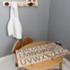 Printed Alphabet Wood Tracing Board