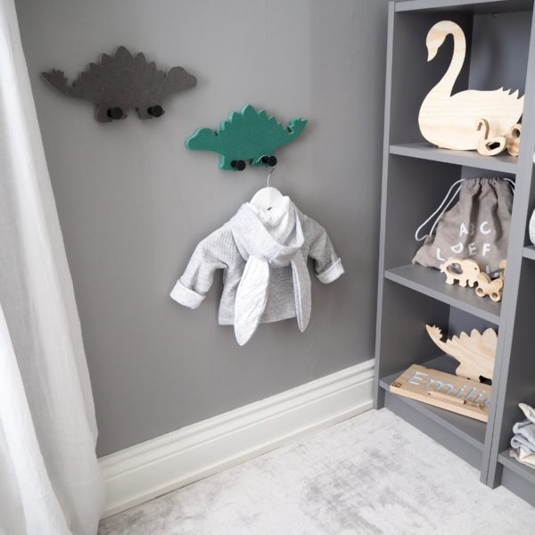 Wall Hanger Dino Stegosaurus RASKLY Green and Grey