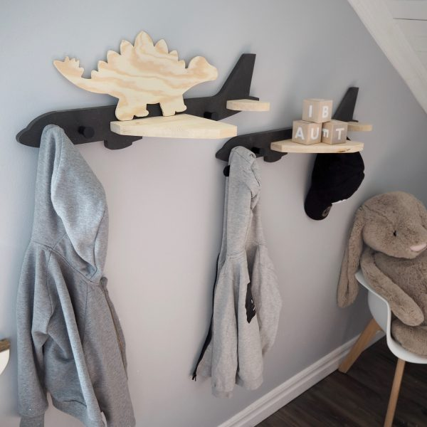 RASKLY Airplane Wall Shelf Clothes Hanger