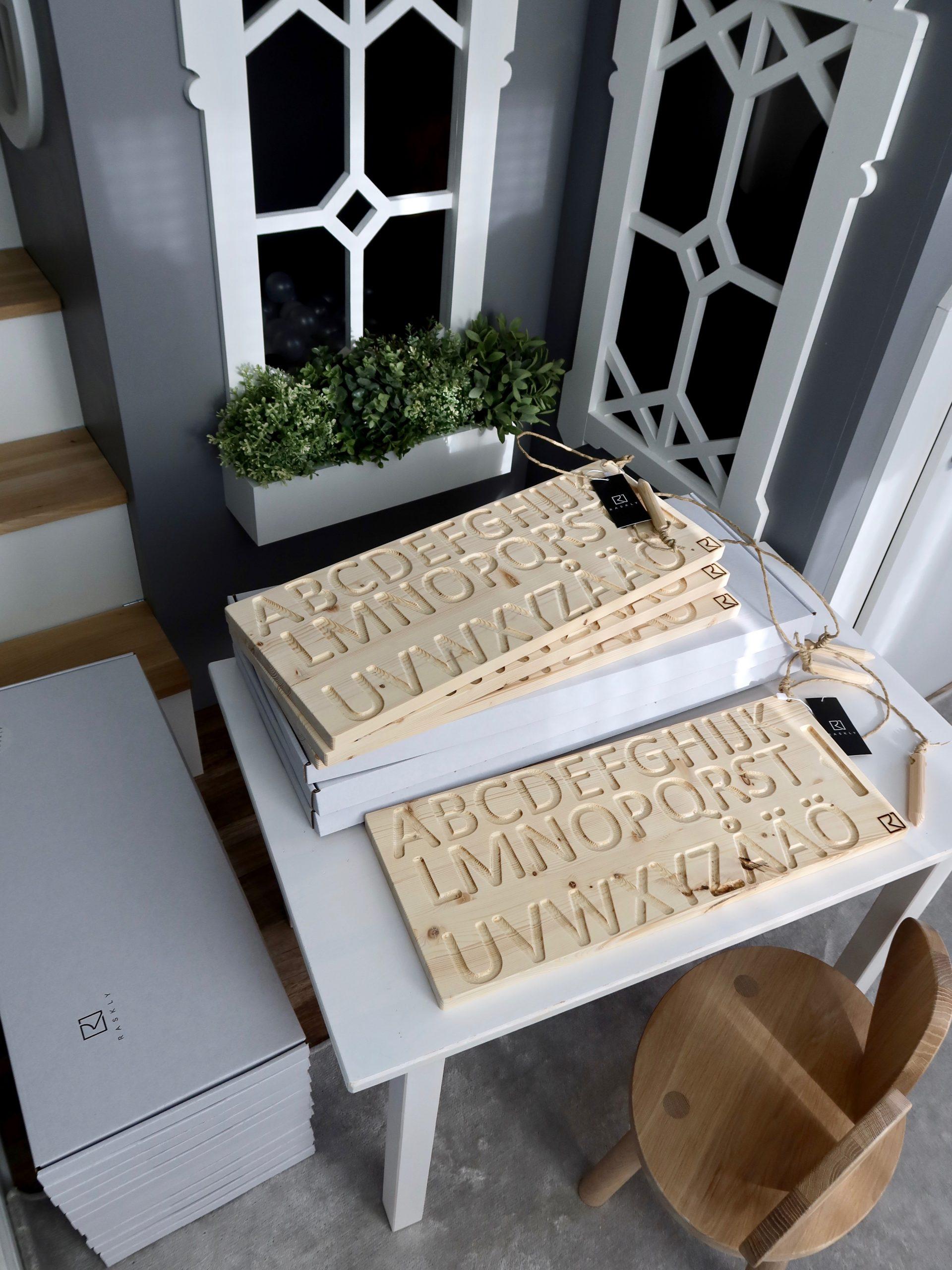 Wooden Alphabet Finger Tracing Board Pine JUNiOR