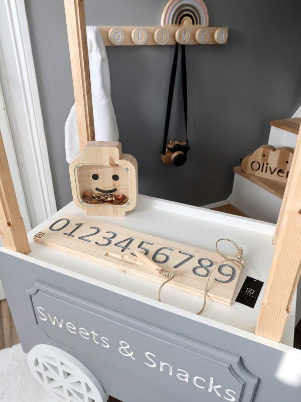1-10 Number Board -- Waldorf Montessori School Toy -- Wooden Numerical Wooden Tracing Board - Number Tracingboard Made of Wood