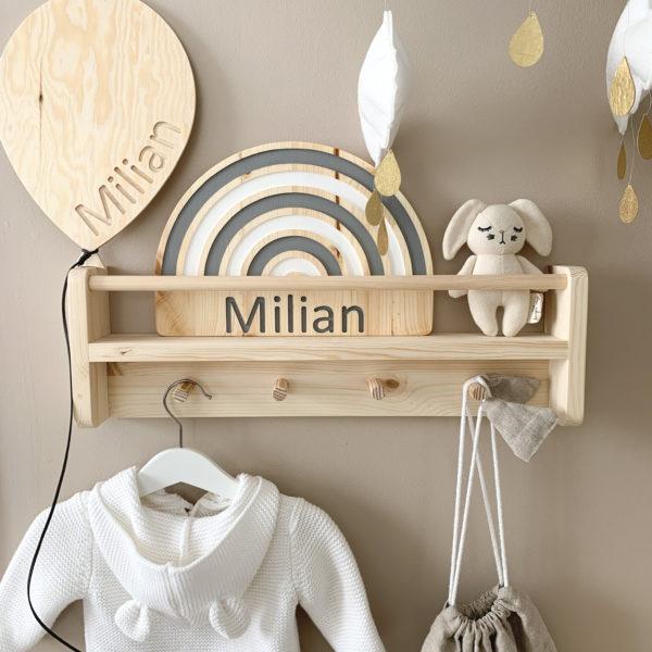 Wooden Nursery Rainbow Name Sign, Rainbow Name Sign for the Nursery, Nursery Decor, Kids Room Decor