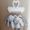 Swan Shelf - Floating Swan Shelf - Kids Shelf - Swan Decor - Clothes Rack for Kids