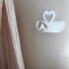 Swan shelf - Floating Swan Shelf - Decorative swan shelf - Swan Nursery Decor - Shelf for Baby Nursery