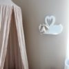 Swan shelf - Floating Swan Shelf - Decorative swan shelf - Swan Nursery Decor - Shelf for Baby Nursery