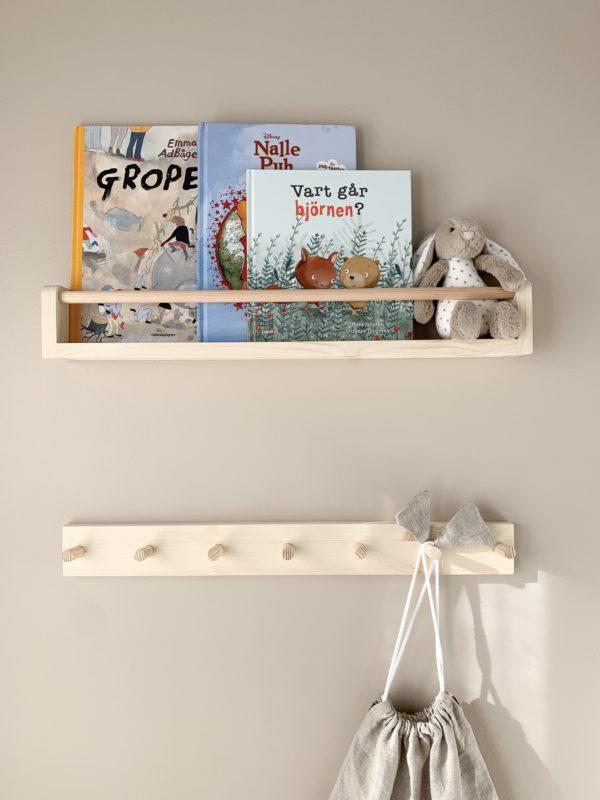 Wall coat rack for kids, Coat Rack, Peg Rail, Wall Hooks for Kids, Kids room decor, Wood Peg Rail, Nursery hooks, Kids hooks