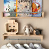 Bookshelves for kids (Oak), Floating bookshelf for kids, kids bookshelves, nursery bookshelf, kids clothes rack, Children's clothing rack and bookshelf