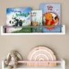 Floating white bookshelf for kids, Bookshelves for kids, kids bookshelves, nursery bookshelf, kids bookshelf